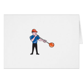 Glassblower Glassblowing Isolated Cartoon Greeting Card