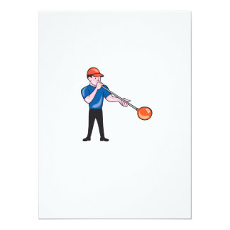 Glassblower Glassblowing Isolated Cartoon 5.5x7.5 Paper Invitation Card