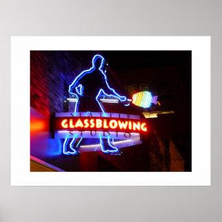 Glassblowing-Impresión Posters