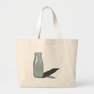 GlassDairyBottle012915.png Large Tote Bag