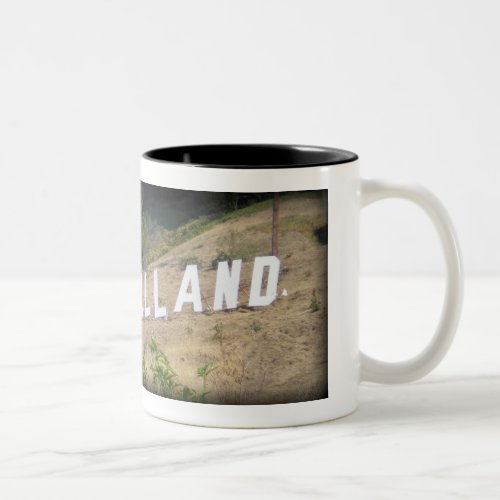 Glassellland Sign Former Hillside Location in Glassell Park, California Two-Tone Coffee Mug