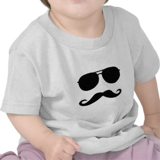 Glasses and Mustache T Shirt