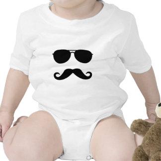 Glasses and Mustache Bodysuits