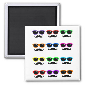 Glasses and Mustaches PoP Art Magnet