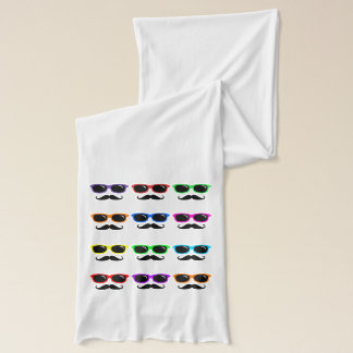 Glasses and Mustaches Pop Art Scarf