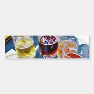 Glasses Beers Car Bumper Sticker