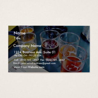 Glasses Beers Business Card