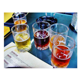 Glasses Beers Postcard