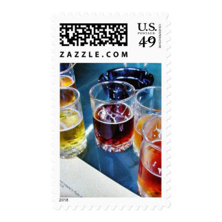 Glasses Beers Stamps