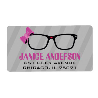 Glasses  & Bows Computer Geek Address Labels