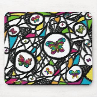 Glasses Butterflies Mousepad By Aliya Leigh