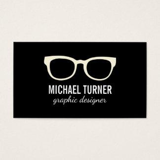 Glasses (cream) business card