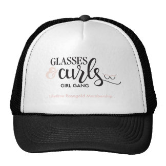 Glasses&Curls Girl Gang Rosegold Membership Hat