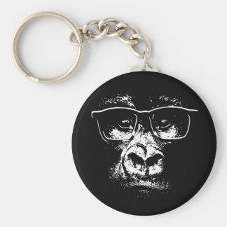 Glasses Gorilla Keychain