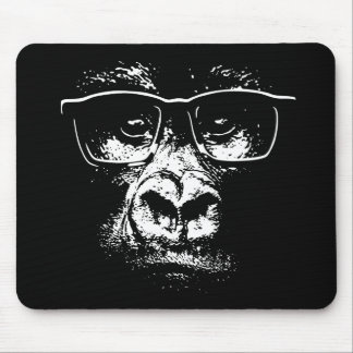 Glasses Gorilla Mouse Pad