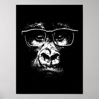 Glasses Gorilla Poster