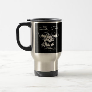 Glasses Gorilla Travel Mug