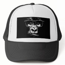 Glasses Gorilla Trucker Hat