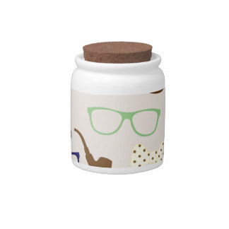 Glasses, Hats and Mustache Candy Jar