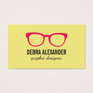 Glasses (Hot Pink) Business Card