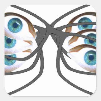 Glasses Image Square Sticker