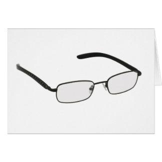 Glasses in black rim. card