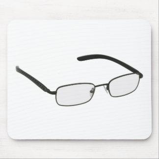 Glasses in black rim. mouse pad