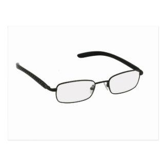 Glasses in black rim. postcard