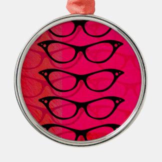Glasses Metal Ornament