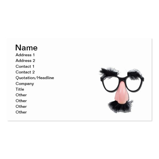 Glasses Mustache Eyebrows Business Card Templates