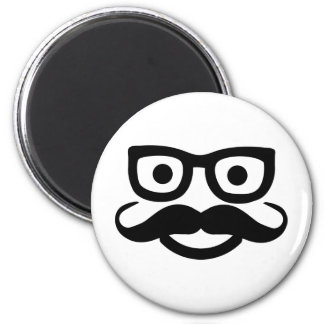 glasses mustache smiley refrigerator magnet