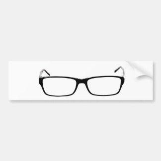 Glasses - Nerd Car Bumper Sticker
