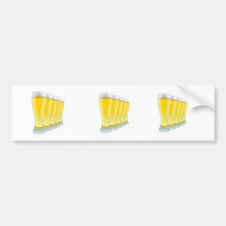 Glasses of Beer Bumper Sticker