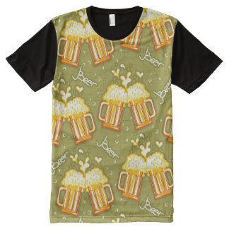 Glasses Of Beer Pattern All-Over-Print Shirt