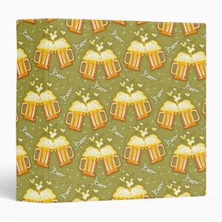 Glasses Of Beer Pattern Binder