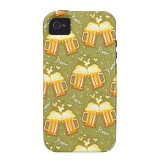 Glasses Of Beer Pattern Vibe iPhone 4 Case