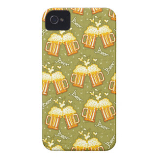 Glasses Of Beer Pattern iPhone 4 Cases