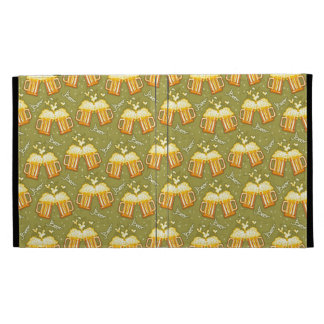 Glasses Of Beer Pattern iPad Folio Cases