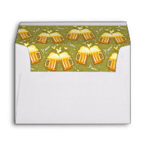 Glasses Of Beer Pattern Envelope