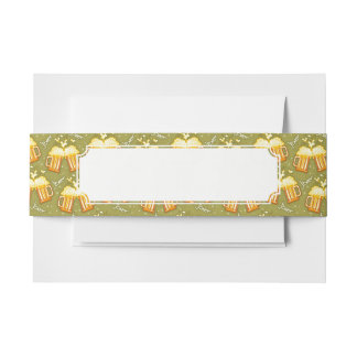 Glasses Of Beer Pattern Invitation Belly Band