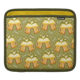 Glasses Of Beer Pattern iPad Sleeves
