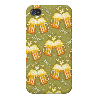 Glasses Of Beer Pattern Cases For iPhone 4
