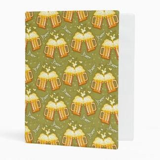 Glasses Of Beer Pattern Mini Binder