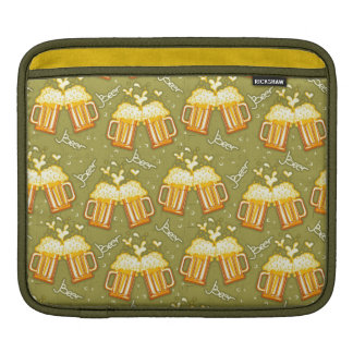 Glasses Of Beer Pattern Sleeve For iPads