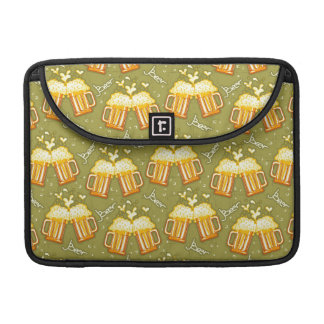 Glasses Of Beer Pattern Sleeve For MacBook Pro