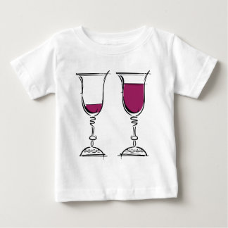 Glasses of red wine illustration. baby T-Shirt