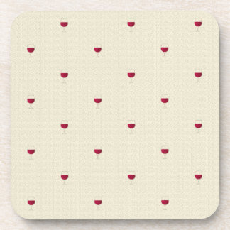 Glasses of red wine pattern drink coaster