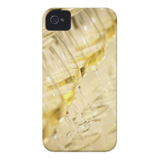 Glasses of white wine for wine tasting, close up iPhone 4 cover