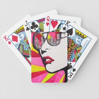 Glasses Skyline Popart Bicycle Card Decks