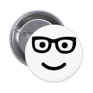 Glasses Smiley geek nerd Pins